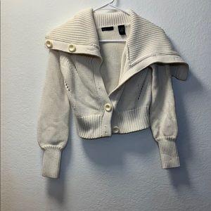 Button up cream cardigan